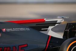 Haas F1 Team VF-17: Finne auf der Motorhaube