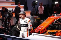 Fernando Alonso, McLaren, mit der Presse