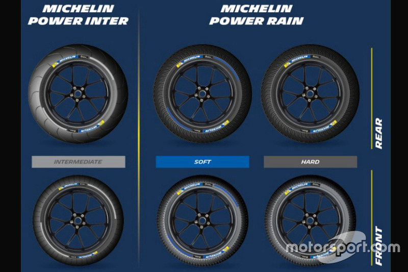 Neumáticos Michelin de lluvia e intermedios