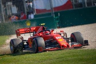 Charles Leclerc, Ferrari SF90 runs wide