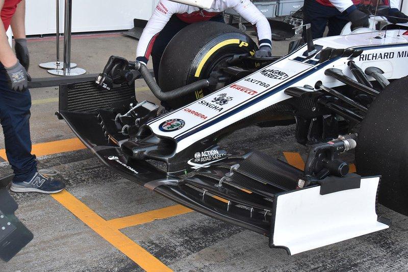 Alfa Romeo Racing C38 front wing detail