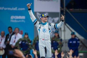 Edoardo Mortara, Venturi Formula E, 3rd position, approaches the podium