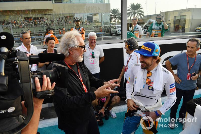 Flavio Briatore y Fernando Alonso, McLaren