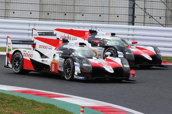 #7 Toyota Gazoo Racing Toyota TS050: Mike Conway, Kamui Kobayashi, Jose Maria Lopez, #8 Toyota Gazoo Racing Toyota TS050: Sebastien Buemi, Kazuki Nakajima, Fernando Alonso