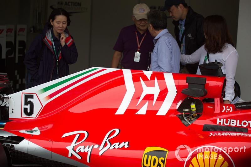 Капот двигуна Ferrari SF71H з новою лівреєю
