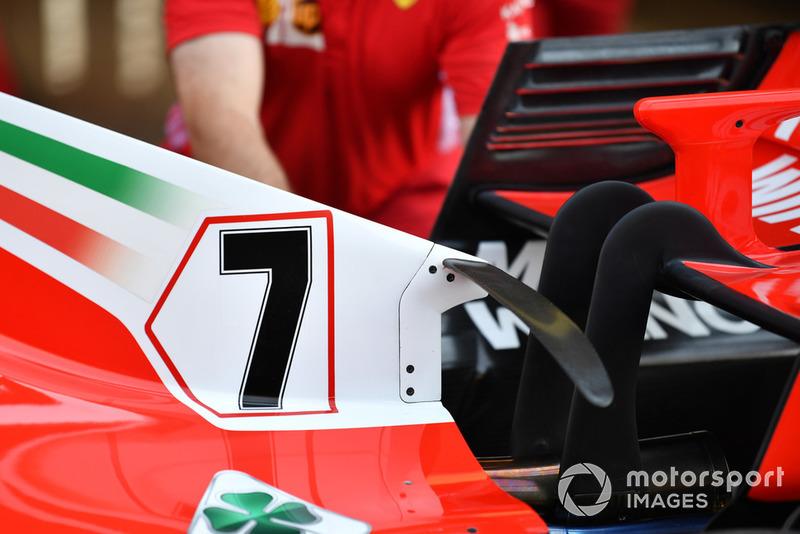 Ferrari'nin motor kapağındaki kıvrımlı T-kanadı