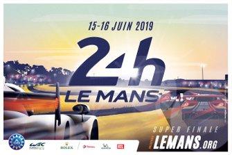 El cartel oficial de las 24 horas de Le Mans 2019.
