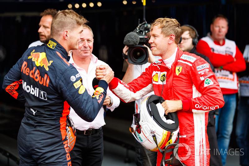 Себастьян Феттель, Ferrari, Макс Ферстаппен, Red Bull Racing