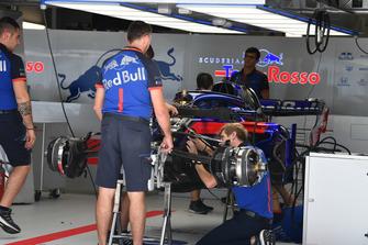 Scuderia Toro Rosso STR13 in the garage