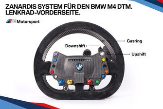 Zanardis System für den BMW M4 DTM, Lenkrad-Vorderseite