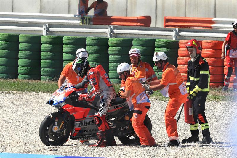 Jorge Lorenzo, Ducati Team crash