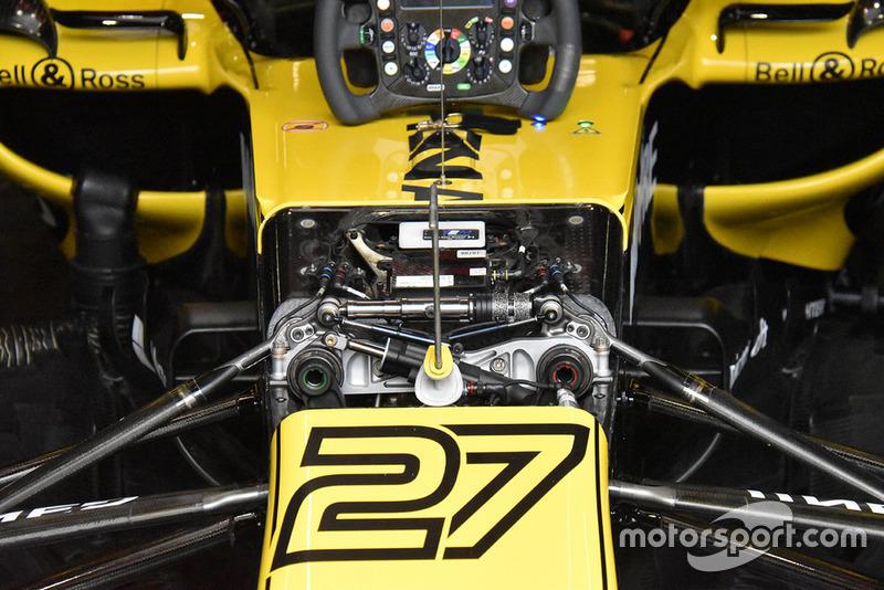 Renault Sport F1 Team R.S. 18 detalle del frente