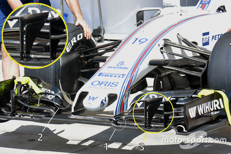 Williams FW38 nose and front wing detail