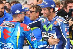 Race winner Maverick Viñales, Team Suzuki MotoGP, third place Valentino Rossi, Yamaha Factory Racing