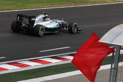 Lewis Hamilton, Mercedes AMG F1 W07 Hybrid heads back to the pits in the second practice session after causing the red flag
