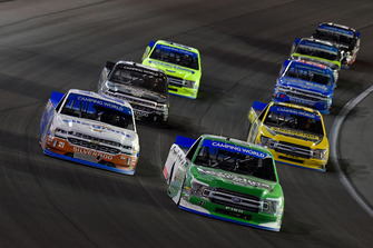 Ben Rhodes, ThorSport Racing, Ford F-150, Johnny Sauter, GMS Racing, Chevrolet Silverado Allegiant, Grant Enfinger, ThorSport Racing, Ford F-150, John Hunter Nemechek, NEMCO Motorsports, Chevrolet Silverado Berry's Manufacturing