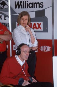 Frank Williams, Team Principal Williams e la moglie Virginia Williams