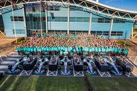 梅赛德斯F1车队庆祝仪式