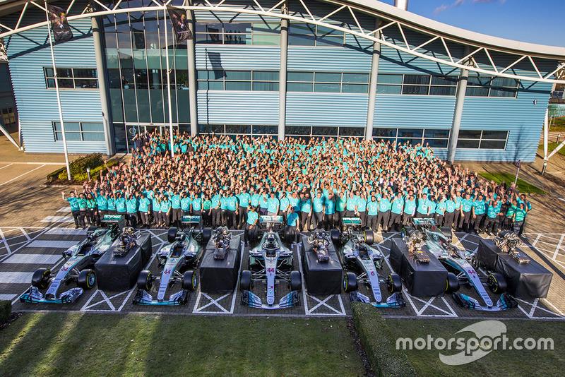 Le personnel derrière les Mercedes W05 Hybrid, W06 Hybrid, W09 EQ Power+, W07 Hybrid et W08 EQ Power+
