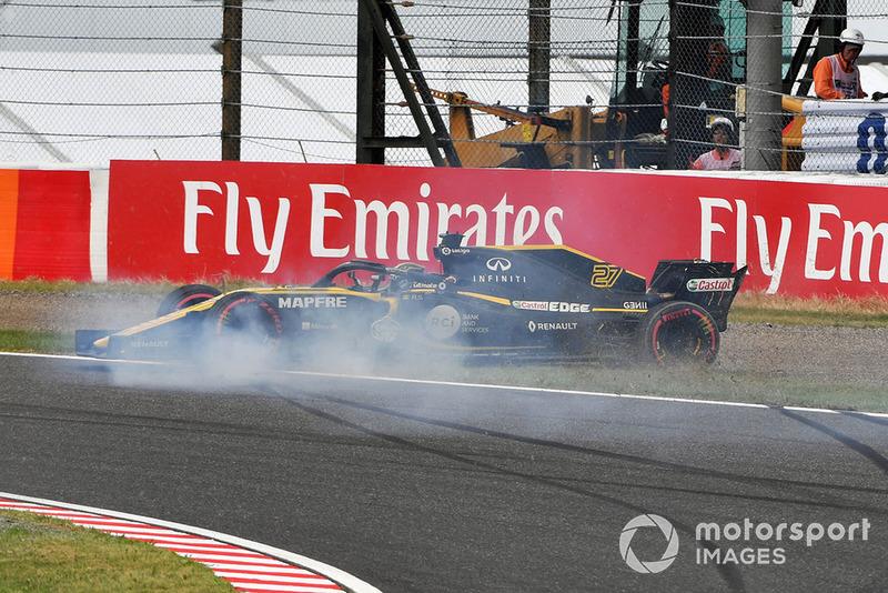 Nico Hulkenberg, Renault Sport F1 Team R.S. 18 crashes