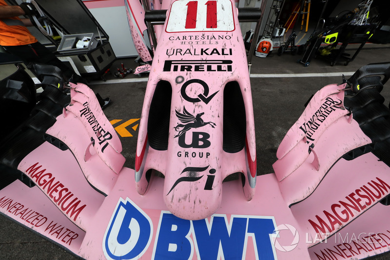 Sahara Force India VJM10 nose and front wing detail