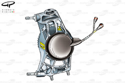 Ferrari F2004 suspension upright
