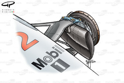 McLaren MP4-15 front brake duct (Qualifying)