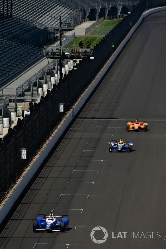 Takuma Sato, Andretti Autosport Honda, Alexander Rossi, Herta - Andretti Autosport Honda, Fernando Alonso, Andretti Autosport Honda