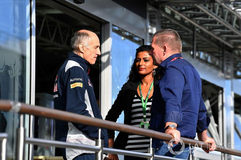 Franz Tost, Scuderia Toro Rosso STR12 Team Principal and Jos Verstappen