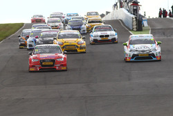 Start of the race, Ant Whorton-Eales, AmD Tuning Audi S3 leads