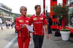 Sebastian Vettel, Ferrari, with Britta Roeske