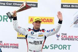 Podium: third place Colin Turkington, West Surrey Racing BMW 125i M Sport