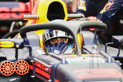 Daniel Ricciardo, Red Bull Racing, Halo device fitted
