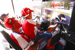 Fans try the new F1 game in the Fanzone