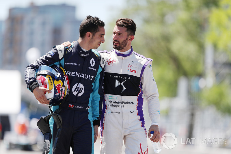 Jose Maria Lopez, DS Virgin Racing, y Sébastien Buemi, Renault e.Dams
