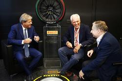 باولو جنتيلوني، رئيس وزراء إيطاليا وترونشيتي بروفيرا وجان تود، رئيس الاتّحاد الدولي للسيارات