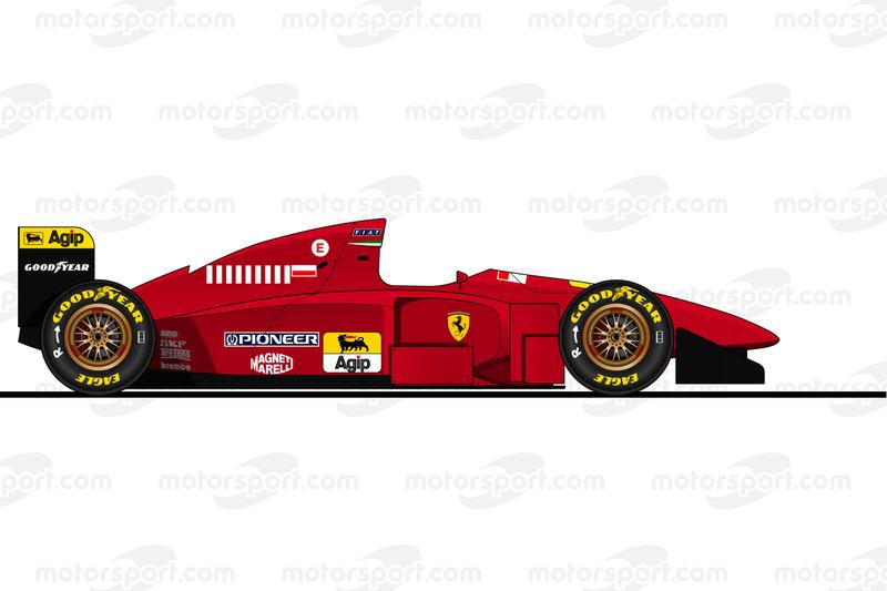 Michael Schumacher, Ferrari 412 T1B, 1996
