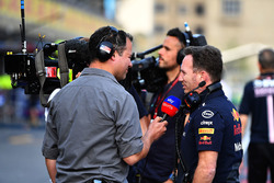 Ted Kravitz, Sky TV ve Christian Horner, Red Bull Racing Takım Patronu