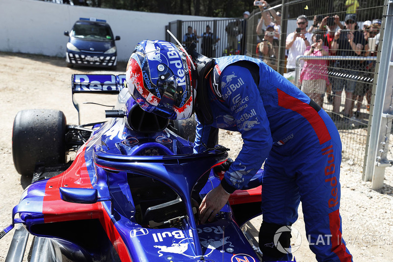 Pierre Gasly, Toro Rosso, abandonne