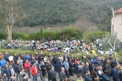 Moto, amici e conoscenti al funerale di Fausto Vignola