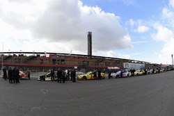 Cars await inspection