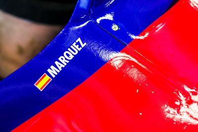 Marc Marquez in pista con la Toro Rosso