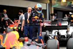 Daniel Ricciardo, Red Bull Racing RB13 celebrates in parc ferme