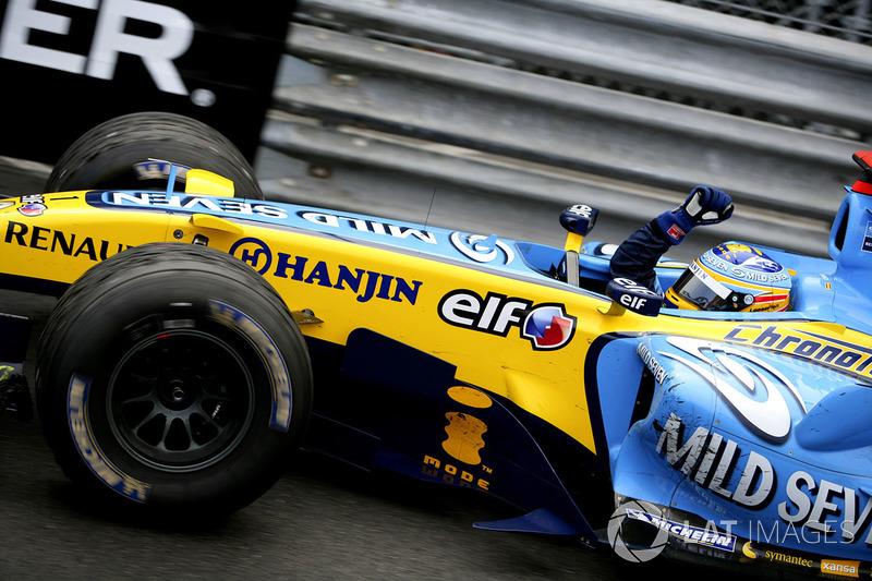 1: Fernando Alonso: 244 grandes premios (el 78,46% de los disputados)