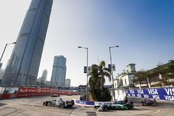 Nelson Piquet Jr., Jaguar Racing, leads Lucas di Grassi, Audi Sport ABT Schaeffler