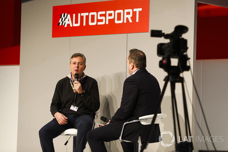 Henry Hope-Frost talks to Mario Isola of Pirelli on the Autosport Stage