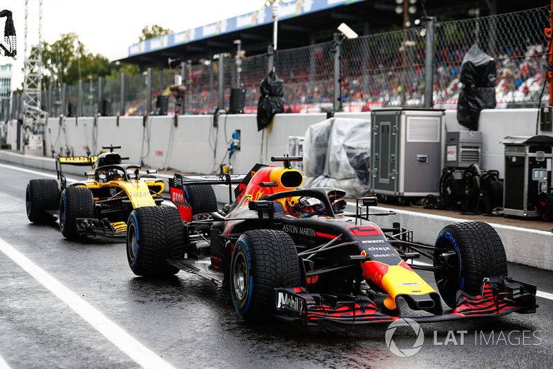 Даніель Ріккардо, Red Bull Racing RB14, Ніко Хюлькенберг, Renault Sport F1 Team R.S. 18