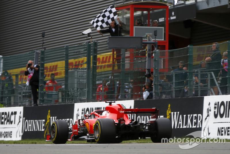 Ganador de la carrera Sebastian Vettel, Ferrari SF71H
