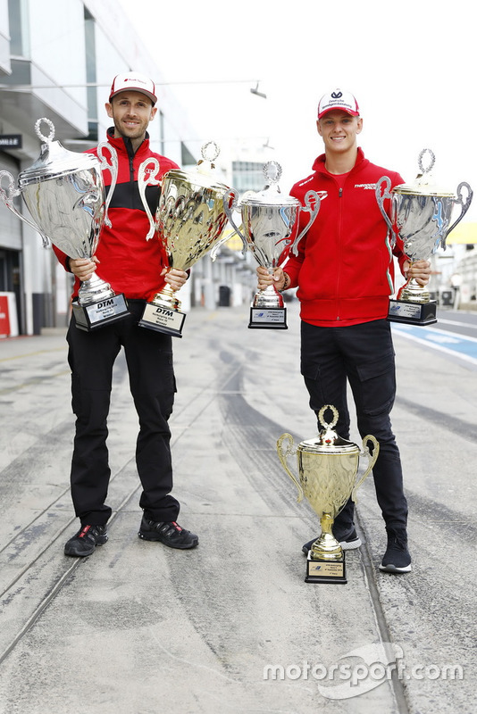 René Rast, Audi Sport Team Rosberg and Mick Schumacher, PREMA Theodore Racing Dallara F317 - Mercedes-Benz