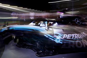 Lewis Hamilton, Mercedes AMG F1 W09 EQ Power+, leaves the garage